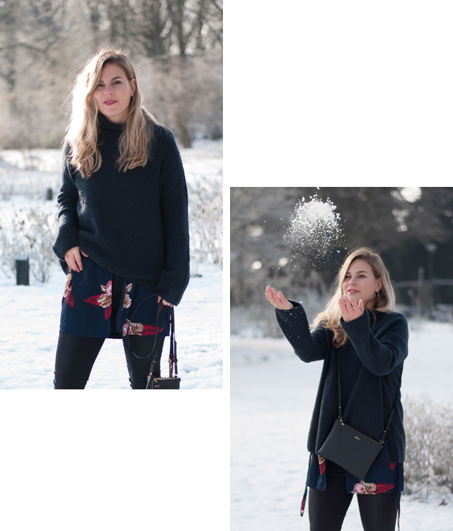 outfit, snow, winter, street style, dutch, women fashion, layering, knitwear, fashion blogger, Style by Jules