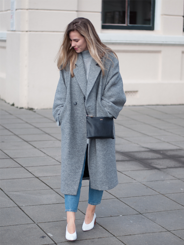 when winter meets spring oversized coat