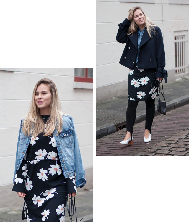 floral, layering, outfit, spring, denim, street style, fashion, fashion blogger, Style by Jules