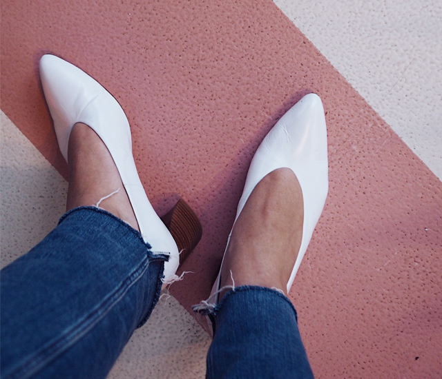 Footwear files: white Zara heels