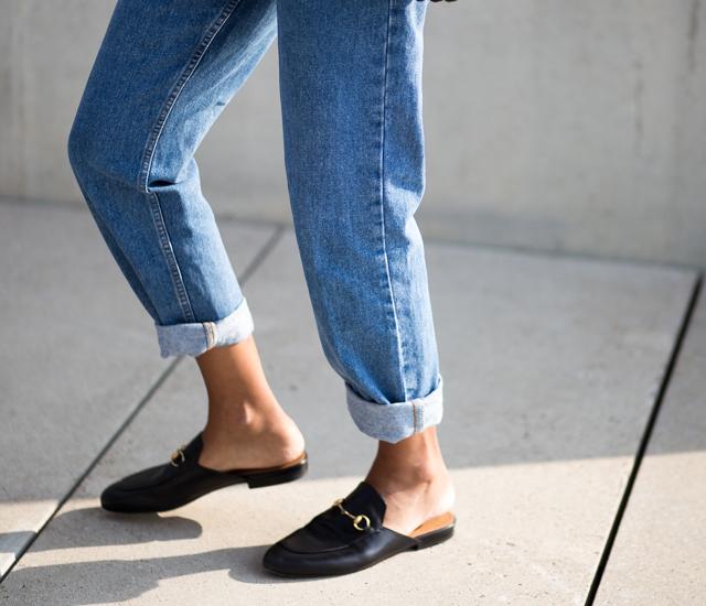 slip on flat mules